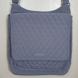 Vera Bradley mailbag crossbody carbon grey NWT